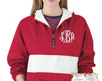 Charles River Classic Striped Pullover ~ Monogram Pullover Jacket ~ Monogrammed Jacket ~ Monogrammed Pullcver ~  Classic Solid Pullover 9908