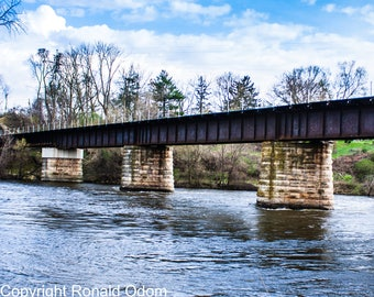 Train Trestle, Landscape, Bridge, River, Wisconsin