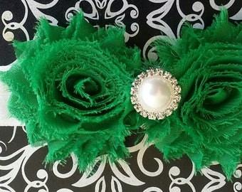 Christmas Headband, Green Headband, Baby Accessory, Cinco De Mayo Headband