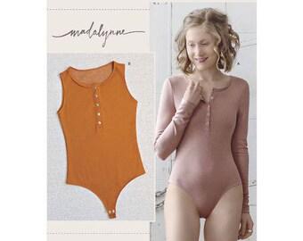 Simplicity Pattern 8435 Misses' Knit Bodysuit. Size XS-XL. Pattern is new and uncut.
