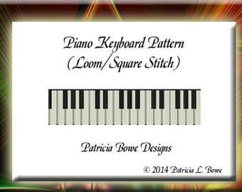 Bead Loom Pattern, Bracelet Pattern, Loom Pattern, Piano Beading Pattern, Keyboard Beading Pattern, Loom Bracelet, Easy Loom Bead Pattern