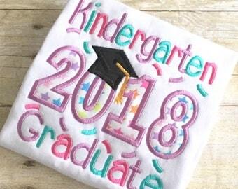 Kindergarten Graduate Embroidery Design - Kindergarten Graduate Applique Design- Applique Design - Embrodiery Desing - Graduation Applique