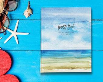 Beach House Guest Book, Visitors Book, New Homeowner Gift, Vacation Home Guest Book, New Home Gift