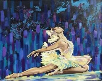 Picture Art Original Oil Painting Ballerina