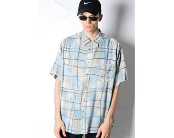 Vintage 90s Pastel Check Short Sleeve Shirt 18_270617_M