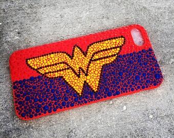 Hand painted WonderWoman iPhone cases