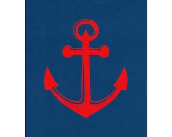 Nautical Rug, Nautical Anchor, Nautical Boy Nursery, Playroom Decor, Kids  Bedroom Decor