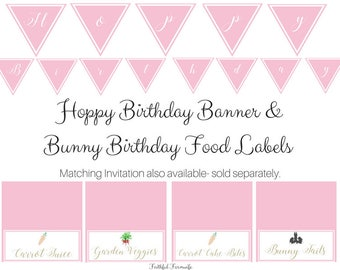 Bunny Birthday Printables