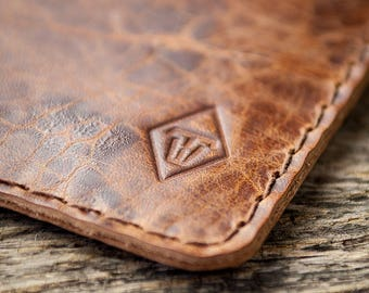 """iPhone 7 6s leather case phone sleeve felt, """"Schutzwerk"""" in """"caramel shades"""" suitable crafted for your iPhone"""