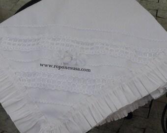 Baby Christening/Baptism/Blessing blanket /Baptism Gift/ White Blanket/ Baby Blanket/Handmade Blanket/Christening Blanket for special day