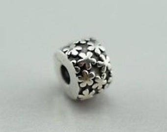 New Authentic Pandora Charm Sterling Silver Flower Burst Clip 790533
