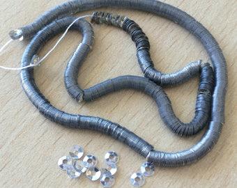 Silver Bowl size 3mm Swarovski Crystal