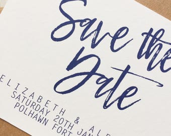 Save the date cards - script save the date card - rustic save the date card