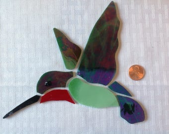 Pre-cut Hummingbird Glass Mosaic Pieces #724