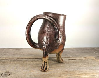 Troll / Monster Creature Cup 20 oz - Geeky Valentine Gift - Dungeon Master Gift - Bookishness and Tea - Office Mug - Mesiree Ceramics