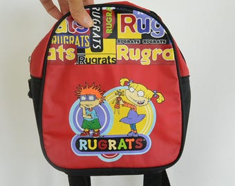 "Rugrats Mini Backpack 90's Era Collectors item Rugrats Tiny Backpack vinyl  man made materials 9"" x 7 1/2"