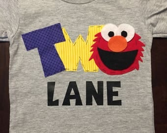 Personalized Elmo Birthday Shirt