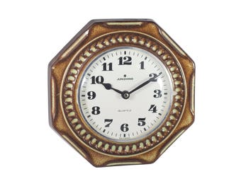 Wall Clock Brand Junghans Ceramics. 70's