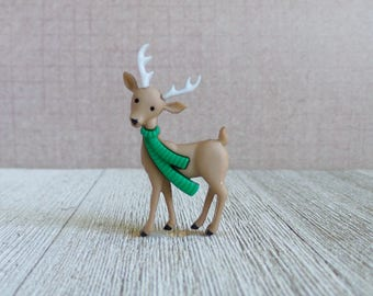 Deer - Forest Animal - Winter - Scarf - Christmas - Holidays - Lapel Pin
