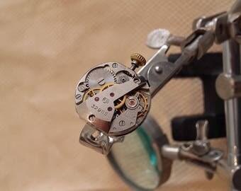 Ladies vintage watch movement ring