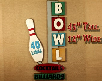 Bowler Man Cave Sign Game Room Decor Personalized Sign Bowling Decor Bowler Sign Bowling Center Sign Bowling Gifts  Bowling Team Gift