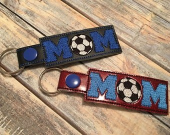Soccer Mom - Key Fob In The Hoop - DIGITAL Embroidery DESIGN