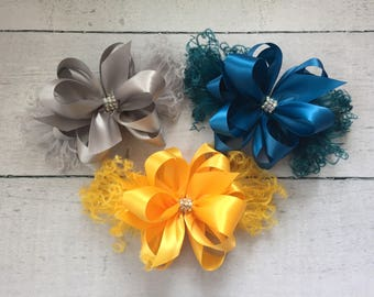 Large Feather Satin bows