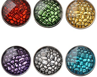 Resin Crackle effect 18mm snap button