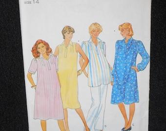 Misses Dress Butterick 4304 Size 14 Womens Maternity Tunic