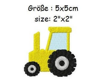 Embroidery Design Tractor 2'x2' - DIGITAL DOWNLOAD PRODUCT