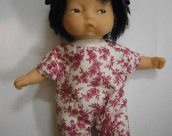 Romper with small flowers Pink for baby 20cm or mini Corolla