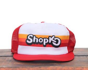 Vintage ShopKo Midwest Department Store Retail Trucker Hat Snapback Baseball Cap