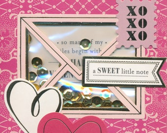 """109 """"A Sweet Little Note"""" Valentine Card"""