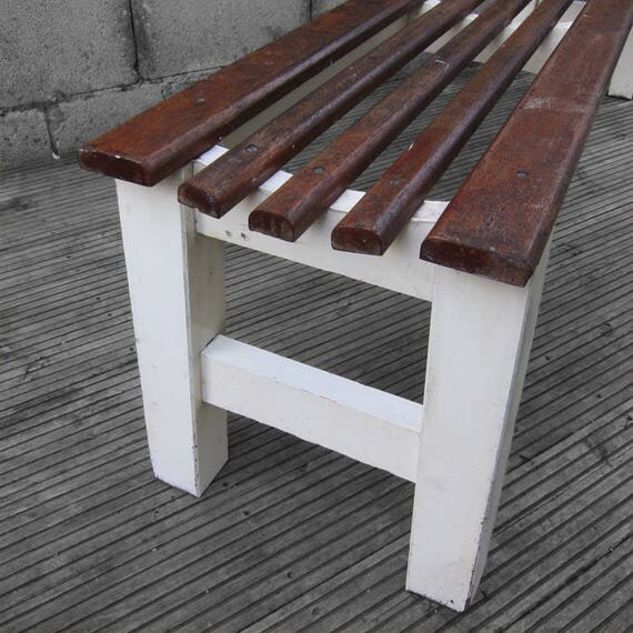 Mid Century Dining Bench Seat Vintage Rustic Reclaimed 1960s