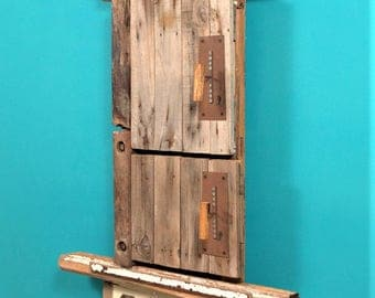 Beach Hut Driftwood Notice Board - Handmade from recycled materials