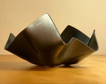 Graceful Tectonic Steel Bowl (Free Shipping)