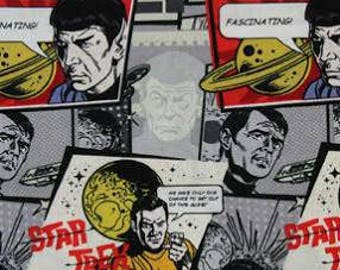 1 YARD Star Trek Comic Burst Nerd Character Fabric
