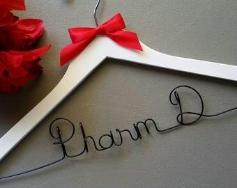 Pharmacist Doctor Hanger, Pharmacist Gift, Graduation Gift, White Coat Ceremony, First White Coat, New Pharmacist Gift, Pharmacist Gift