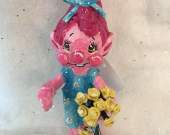 Adorable Troll Christmas Ornament And Cake Topper