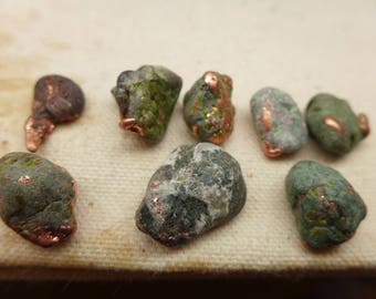 Natural Copper Nuggets - 8 #6-2 -  Ring Size Copper Nuggets - Michigan Copper Nuggets