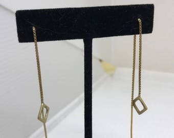 Designer Gold Dangling Earrings