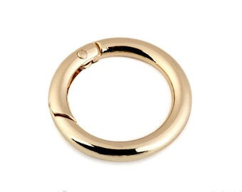 Ring carabiner for keys/pockets 25 mm