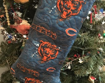 Chicago Bears Quilted Stocking