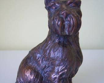 Vintage Metal Scottie Dog Figurine