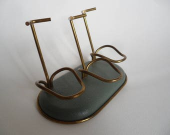 Vintage rare string pipe holder,pipe stand,pipe rest,3 seats pipe holder,design wired pipe stand,old pipe stand,1950