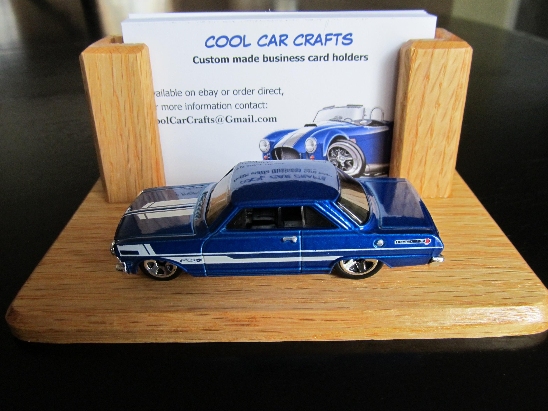 1963 chevy ii nova ss oak business card holder desk sales