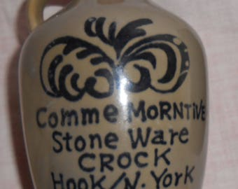 Hook N. York Stone Ware Crock Jug Cork 1867