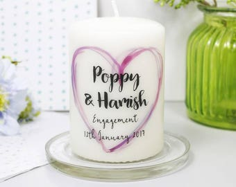 Engagement Candle Gift - Engagement Gift - Engagement Candle - Wedding Candle - She Said Yes Gift - Congratulations candle