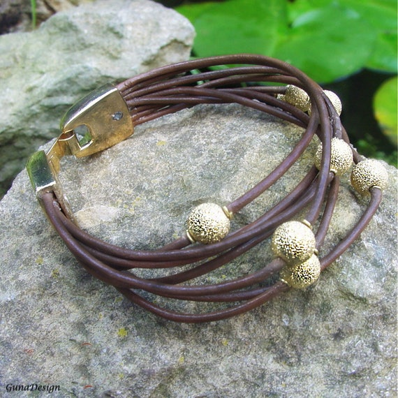 Tutorial - Leather Cord Wrapped Bracelet with Beads