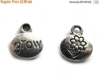 HALF PRICE 6 Silver Grow Charm - Garden Charm